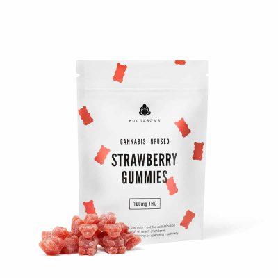 Buy BuudaBomb Strawberry Gummies Online Green Society