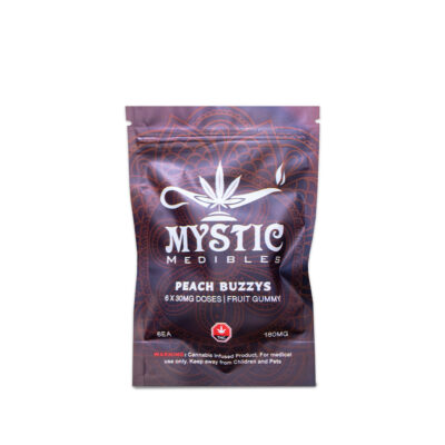 Buy Mystic Medibles Peach Buzzys Online Green Society